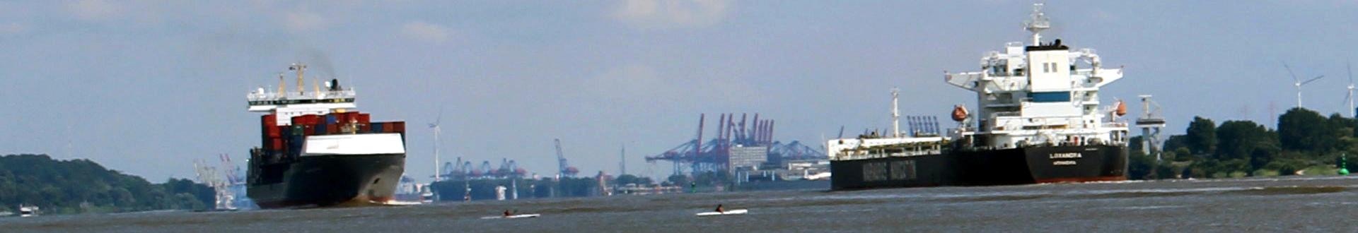Uhtenwoldt Blick auf Hamburger Hafen